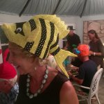 Crazy hat parties are a tradition if someone is celebrating a birthday-that's me in the fish hat