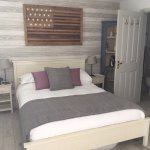 Double bed and ensuite in family room
