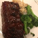 fabulous ribs, we swapped the sides for mash and veg - delicious