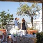 breakfast of the roof terrace of Mecenate