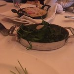 Spinach with Garlic Confit