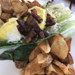 grilled lettuce leaf with egg - delicious