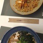 Corral chicken yakisoba e miso ramen