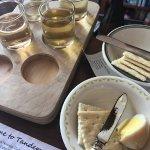 Pickled egg and the cider tasting board