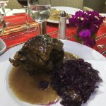 half a leg of lamb with red cabbage