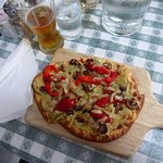 Garden Vegetable Flatbread with local ale