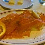 Huge portion of smoked salmon