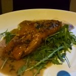 Salmon in a sweetish sauce