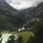 Il lago Palu raggiungibile da Cavaglia e da Alpe Brum. Vista sul ghiacciaio.