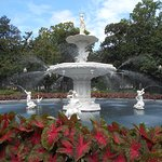 Fountain at Forsyth park Savannah, GA.