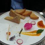 foie gras au chetney d'abricot et mangue