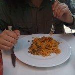 Paella de verdura del menu del día