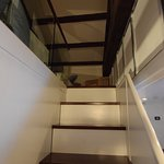 Stairs leading to the loft in quadruple room