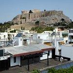 Blick auf die Akropolis am Tage