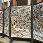 Mural on Monongahela River walk near Marriott Waterfront