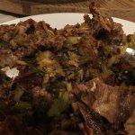 Stir-fried duck bones
