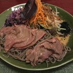 Soba Salad with Buckwheat Noodles--beef melts in your mouth