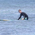Thankful to Carol & Co. for a great experience learning how to surf! Photo credit: Willi