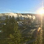geysers in the morning as seen from our room