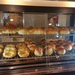 Bread and pastries at the breakfast buffet