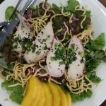 Mango sesame salad with grilled chicken