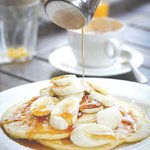 All our pancakes are served with locally sourced 'Naked Honey'...