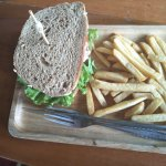 tuna sandwich with brown bread