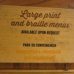 Braille menus available here