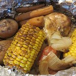 Overcooked, dried out, lukewarm Campfire Meal