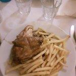 poulet frite ou andouillet frite
