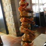 Brochette de saint jacques et crevettes