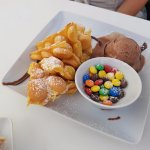 Bubble Waffle with M&m´s