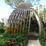 The orchid dome in the garden of the hotel