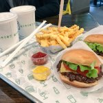 Class Shake Shack burgers and fries