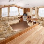 The wonderful interior of a Gold Caravan