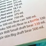 Even 'bear' is on the menu... draft or in a bottle