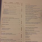 Here is the menu