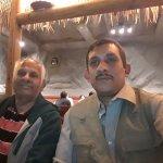 Self and my Uncle enjoying a meal at Vatan