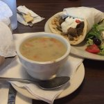the cup of avgolemono and more pita