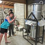 The first brew rig that started it all is kept inside the brewery.