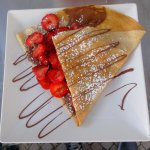 My Nutella and fresh starwberries crepes so great
