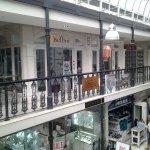 On upper level of arcade
