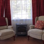 Or sit around the fire in the Clouds Rest suite at the Blackberry Inn
