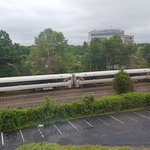 Cool view of passing train from my room