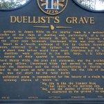 Plaque about the duellist