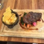 our Bison Ribeye steak (they don't have fillet Mignon)