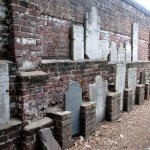 Wall of tombstones