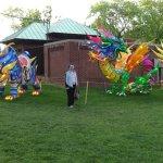 Chinese lantern festival -- balloon dragons