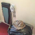 Luggage stand & iron & ironing board