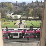 A tram going past. If want Princes Street view then expect bit noise!